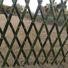 山亭竹围栏竹篱笆�Z栅栏竹篱笆pvc护栏仿树皮护栏图片