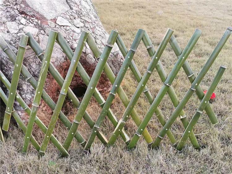 阜阳阜南竹片栅栏竹篱笆护栏竹篱笆 草坪护栏塑木栏杆