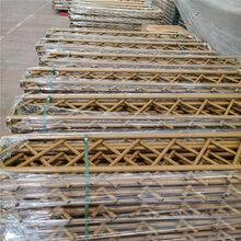 牡丹竹围栏竹栅栏竹篱笆pvc护栏防腐木围栏图片