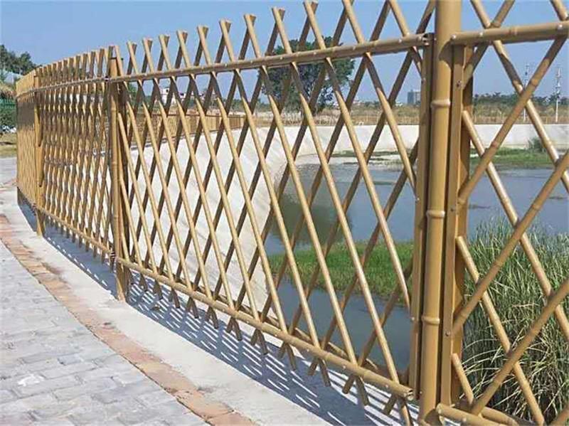 醴陵竹籬笆塑鋼護欄竹子籬笆塑鋼護欄株洲炎陵