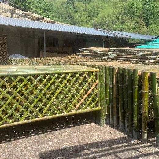 郟縣竹籬笆庭院菜地護欄竹子籬笆綠化欄桿圍欄梧州藤縣