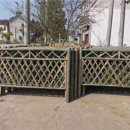 疊彩區竹籬笆草坪花壇竹子籬笆塑鋼護欄婁底雙峰