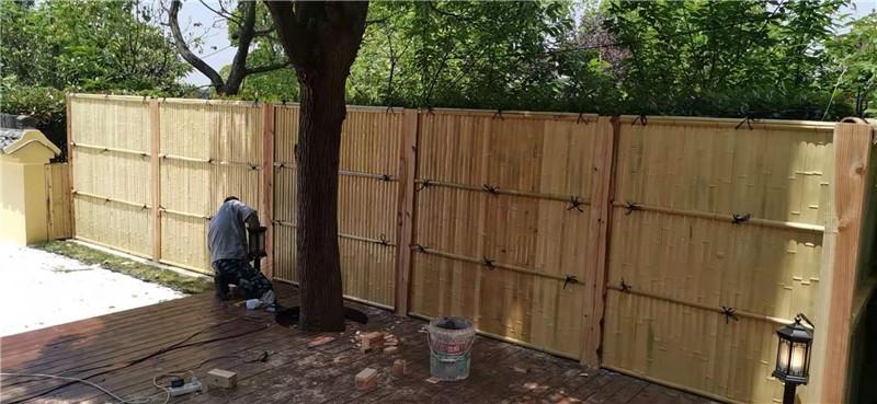望花區竹籬笆戶外竹籬笆竹子籬笆綠化帶花園欄桿昭通彝良