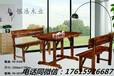 綠色環保餐桌椅碳化木經濟實惠銀浩餐桌餐椅