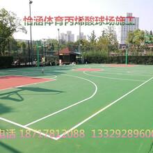 象山籃球場塑膠地坪施工圖片