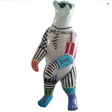 欣意美热销玻璃钢大熊卡通动物摆件kTV酒店园林景观雕塑
