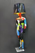 欣意美直销玻璃钢雕塑M10821人物摆件创意模特男灯商场酒店装饰