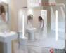 廠家供應圓型智能魔鏡衛浴間無框鏡可看天氣鑫飛智能鏡觸控衛浴鏡