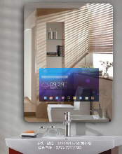 河北智能镜触控卫浴镜方型智能魔镜智能镜卫浴间无框镜可看天气鑫飞