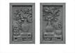 新品中式仿古门头墙头装饰品砖雕挂件富贵平安5080CM