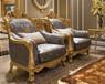 北京欧式家具超市优质时尚设计优雅立体单人沙发