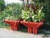 定制各种款式室内户外木花箱木花盆防腐木碳化木
