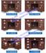 淮北铜陵1.3米全钢精品保险桌古铜红保险桌商用投币收银桌