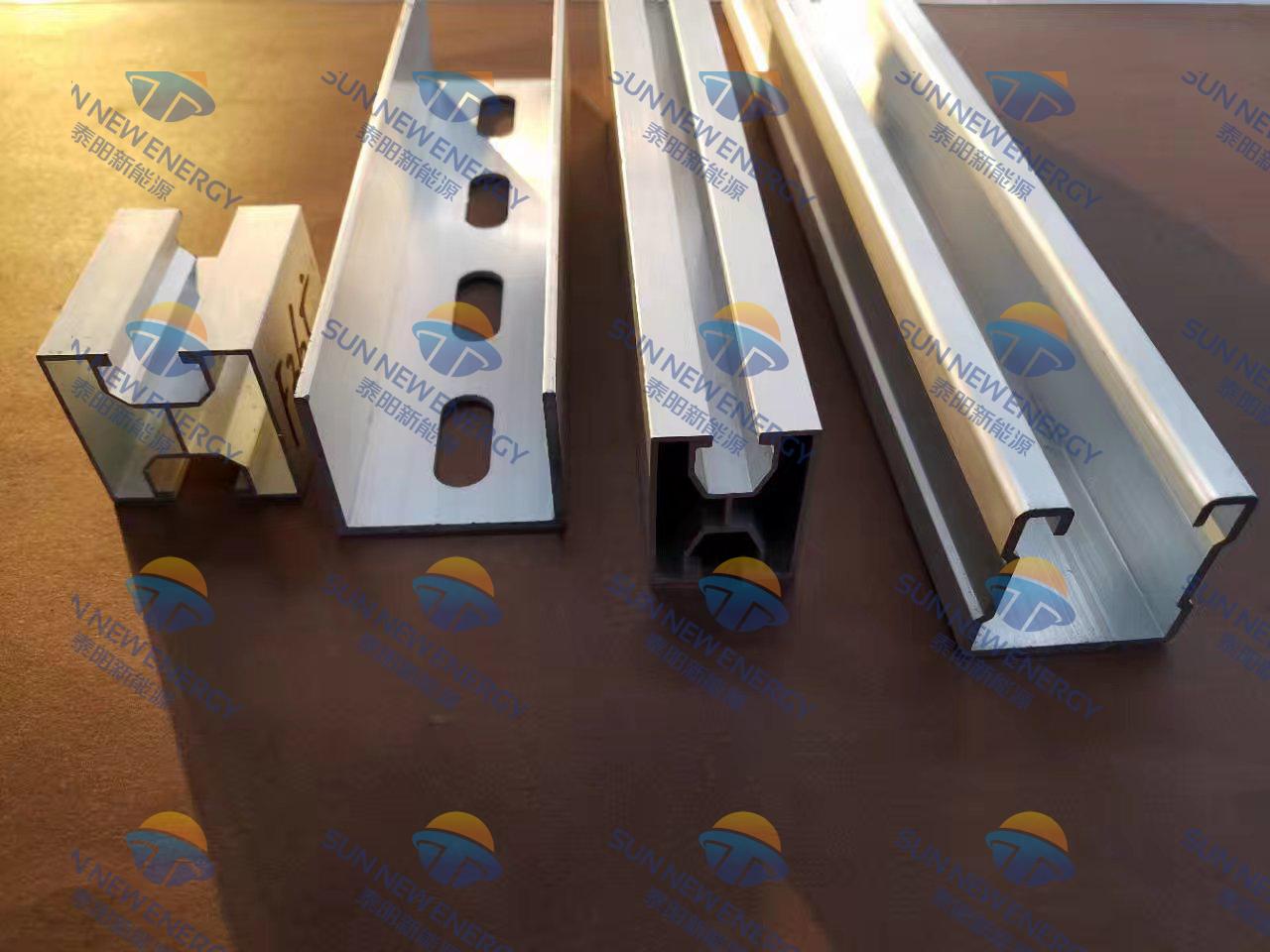 太阳能电池板光伏铝合金支架导轨连接底座三角