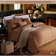 河南铭科酒店布草用品,酒店床上用品酒店客房床品套件图片