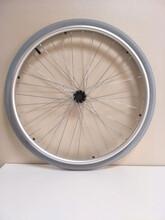 好思达轮椅配件24寸实心胎大轮轮椅后轮充气减震轮胎驱动轮