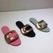 StellaLuna17新款夏季一字拖鞋時尚室外舒適平底18K鍍金飾扣女涼拖