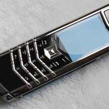威图签名版奢华正品手机海军蓝亮钢陶瓷牛皮直板手机高端手机