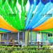 多彩立体遮阳网——广告创意景观爆品