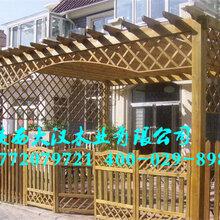 西安仿古门头塑木廊架防腐木凉亭