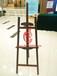 上海松木三角胡桃色1.45米木质画架展架出租零售