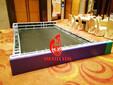 上海会务活动舞台背景板出租安装嘉定区桁架背景板制作图片