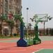 广西柳州埋地式篮球架优格YG-103钢化玻璃圆管篮球架厂家直销