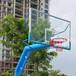 广西贵港户外标准篮球架优格YG-105室外成人比赛篮球架供应
