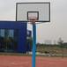广西钦州固定式篮球架优格YG-107户外标准圆管方管篮球架厂家