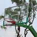 贵阳篮球场地埋式圆管篮球架优格厂家供应室外成人比赛篮球架