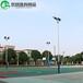 信阳室外两节式篮球场灯杆厂家/优格高质量球场镀锌灯杆