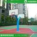 金华室外埋地式篮球架圆管篮球架/优格SMC复合篮板厂家供应
