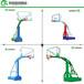 南阳户外升降式方管篮球架厂家透明篮板篮球架优格上门安装