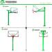 定安學校廣場籃球架批發/優格圓管埋地式透明板籃球架廠家
