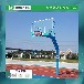 杭州学校成人比赛篮球架供应/优格锥形埋地式透明板篮球场厂家