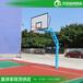 武汉大学户外标准篮球架埋地式圆管篮球架厂家送货安装