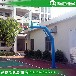 青岛学校户外球场篮球架安装优格篮球架采用优质钢材生产
