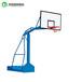 黄石室外运动仿液压篮球架升降式方管透明篮板篮球架厂家
