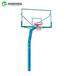 延安室外篮球架供应埋地式圆管篮球架优格SMC复合篮板