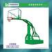 張掖錐形管埋地式籃球架批發搭配標準鋼化玻璃透明籃板