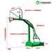 汉中户外安装篮球架锥形埋地式篮球架厂家优格实体工厂