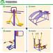 吉林户外体育设施器材安装镀锌管健身路径防腐蚀防锈