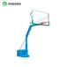 齐齐哈尔户外移动篮球架平箱仿液压篮球架玻璃钢透明篮板