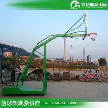 贵州小区篮球架批发优格YG1-JS278固定钢化玻璃篮球架埋地式圆管图片