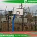 双鸭山埋地式圆管篮球架安装供应透明玻璃板篮球架厂家