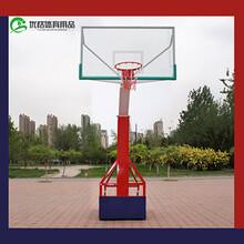 珠海广场篮球架优格YG1-JS345丁字型方管篮球架高质量钢化玻璃篮板图片