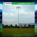 大同小区足球场圆形照明灯杆厂家优格足球场12米灯杆光源集中选用LED