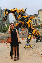 汉光展览变形金刚展擎天柱大黄蜂展览道具活动道具出租