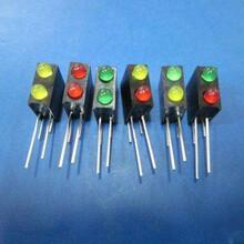 供应带座led上黄绿下红专用LED灯珠图片