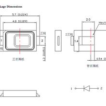 优质厂家供应深圳5730紫光UV0.2W/0.5WTM-S5730365UVW-E专用LED灯珠尺寸.参数.规格书